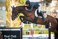 Alvarez Aznar Eduardo (ESP) - Rokfeller de Pleville Bois Margot<br /> Final First Competition<br /> Furusiyya FEI Nations Cup™ Final - Barcelona 2014<br /> © Dirk Caremans<br /> 09/10/14
