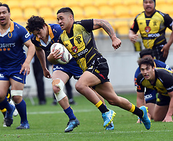 Wellington's Kemara Hauiti-Parapara against Otago in the Mitre 10 Rugby match at Westpac Stadium, Wellington, New Zealand, Sunday October 01,, 2017. Credit:SNPA / Ross Setford  **NO ARCHIVING**