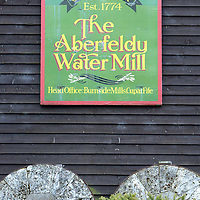 Money Mail Feature.... Aberfeldy Water Mill...14.5.2003.<br />The Aberfeldy Water Mill.<br /><br />Picture by John Lindsay .<br />COPYRIGHT: Perthshire Picture Agency.<br />Tel. 01738 623350 / 07775 852112.