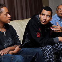 Shannon Liccardo, 21, son of Michelle Mason, talks about her disappearance with family members Charlene Bush, left and Rosemary Jackson on Wednesday November 4, 2009 in Garfield Heights, Ohio...Ken Blaze for the New York Times.