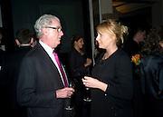 LORD BELL AND NICOLA STEPHENSON, Veuve Cliquot Business Woman Award. Berkeley Hotel 8 April 2008.  *** Local Caption *** -DO NOT ARCHIVE-© Copyright Photograph by Dafydd Jones. 248 Clapham Rd. London SW9 0PZ. Tel 0207 820 0771. www.dafjones.com.