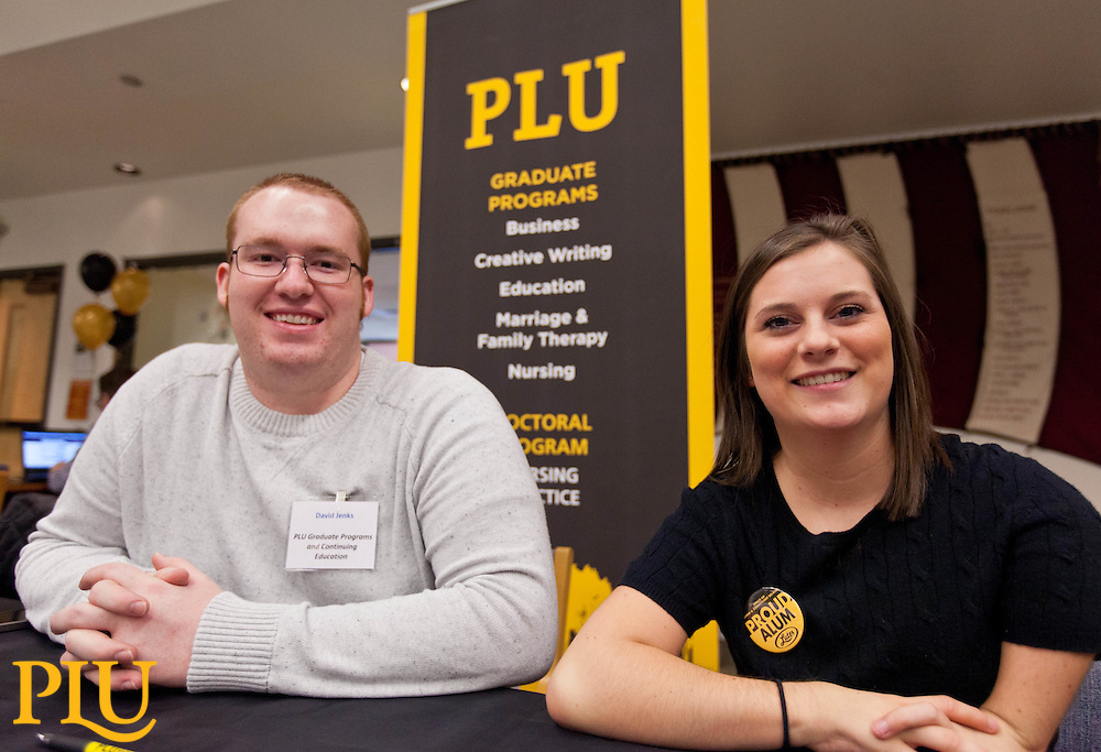 Humanities Career Fair in the Scandinavian Center at PLU on Wednesday, Feb. 25, 2015. (Photo/John Froschauer)