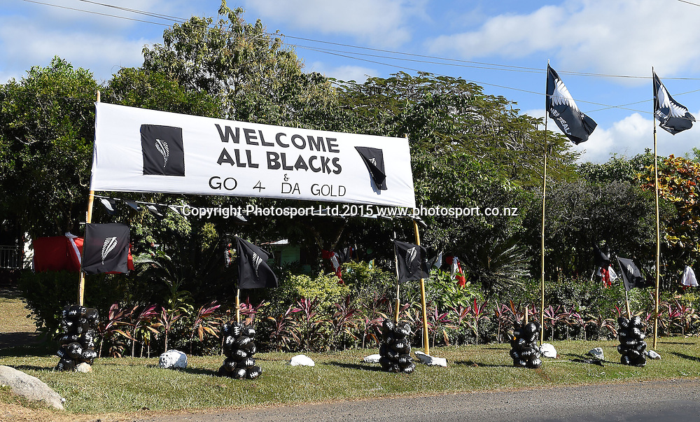 General views on the road into Apia ahead of the historic All Blacks test match against Samoa tomorrow. Apia, Samoa. Tuesday 7 July 2015. Copyright Photo: Andrew Cornaga / www.Photosport.nz