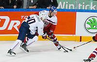 Laurent Meunier / Vladimir Sobotka - 07.05.2015 - Republique Tcheque / France - Championnat du Monde de Hockey sur Glace <br />Photo : Xavier Laine / Icon Sport