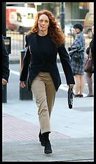 NOV 29 2012 Rebekah Brooks at Westminster Magistrates Court