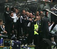 Photo: Andrew Unwin.<br /> Newcastle United v Glasgow Celtic. Alan Shearer Testimonial. 11/05/2006.<br /> Newcastle's Alan Shearer (C) celebrates his team's first goal.