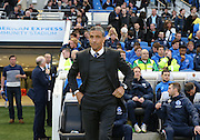 Brighton manager Chris Hughton during the Sky Bet Championship match between Brighton and Hove Albion and Bournemouth at the American Express Community Stadium, Brighton and Hove, England on 10 April 2015.