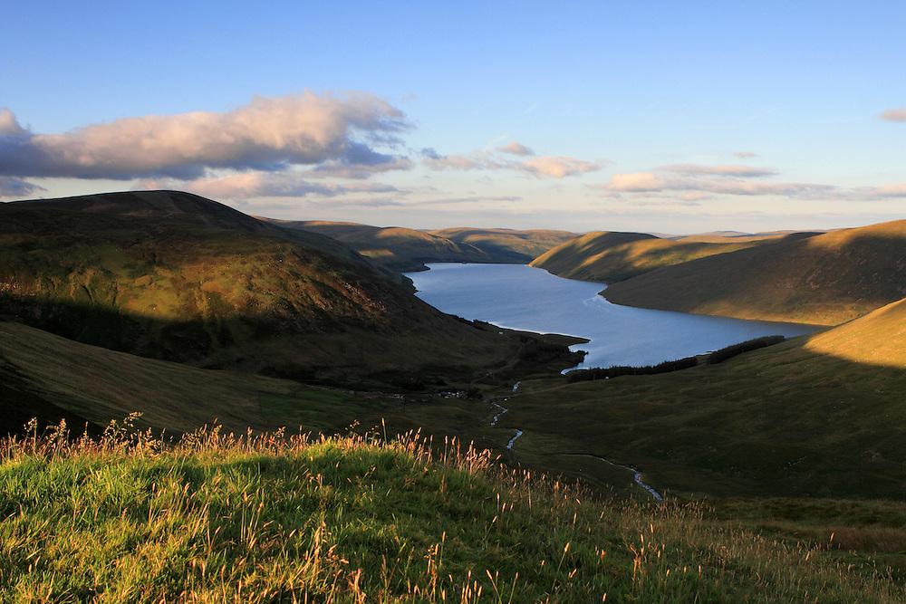 Summer Evening light over Meggethead in the Scottish Borders