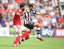 Alex Rodman of Notts County and Danny Fox of Nottingham Forest (L) in action - Mandatory by-line: Jack Phillips/JMP - 23/07/2016 - FOOTBALL - Meadow Lane Stadium - Nottingham, England - Notts County v Nottingham Forest - Mike Edwards Testimonial Pre-Season Friendly