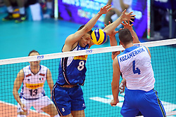 DANIELE MAZZONE BLOCKS<br /> ITALY VS SLOVENIA<br /> MEN'S VOLLEYBALL WORLD CHAMPIONSHIPS <br /> Florence September 18, 2018