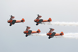 Breitling Wingwalkers, Farnborough International Airshow, London Farnborough Airport UK, 15 July 2016, Photo by Richard Goldschmidt