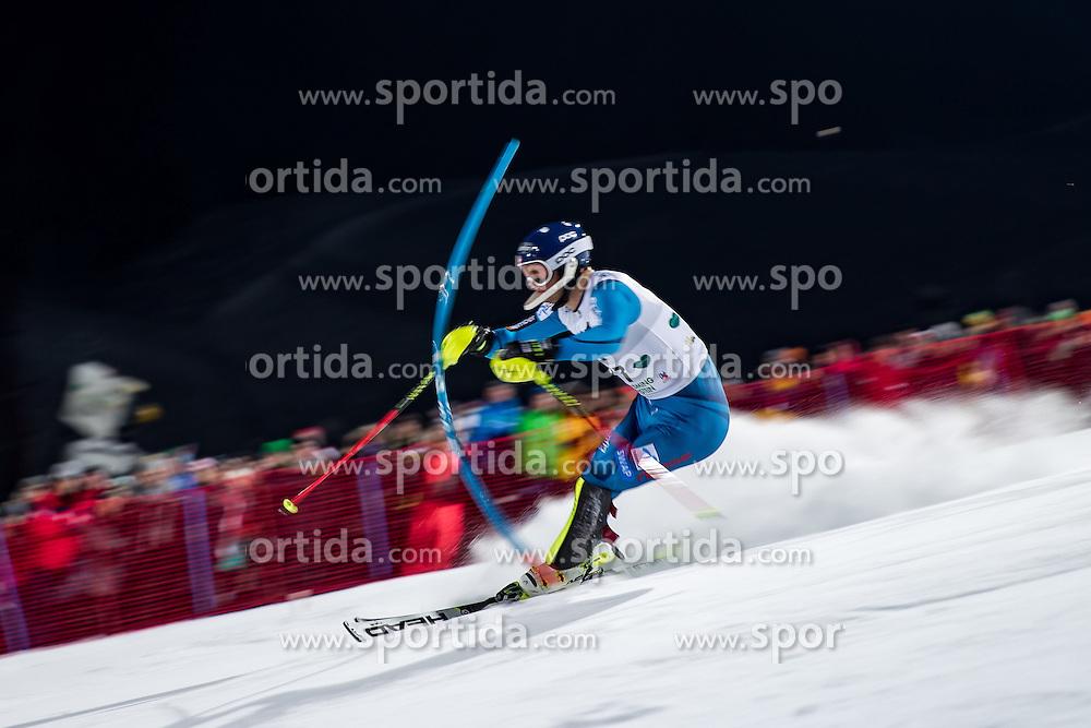 24.01.2017, Planai, Schladming, AUT, FIS Weltcup Ski Alpin, Schladming, Slalom, Herren, 1. Lauf, im Bild Jonathan Nordbotten (NOR) // Jonathan Nordbotten of Norway in action during his 1st run of men's Slalom of FIS ski alpine world cup at the Planai in Schladming, Austria on 2017/01/24. EXPA Pictures © 2017, PhotoCredit: EXPA/ Johann Groder