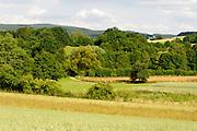 Landschaft im westlichen Odenwald, Hessen, Deutschland   Landscape in the western Odenwald, Hesse, Germany