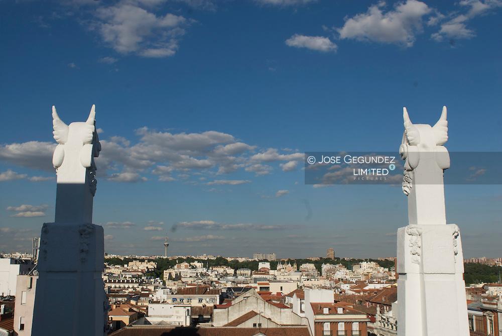 Madrid. Panoramicas desde la terraza del Hotel Me en la Plaza de Santa Ana