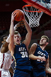 NORMAL, IL - November 29: Matt Wendling grabs a rebound during a college basketball game between the ISU Redbirds and the Prairie Stars of University of Illinois Springfield (UIS) on November 29 2019 at Redbird Arena in Normal, IL. (Photo by Alan Look)
