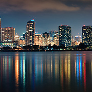 Downtown San Diego from Coronado Ferry Landing. Coronado, CA