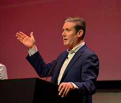 Pictured: Keir Starmer on stage.<br /> <br /> Candidates in the race to be the new Labour leader took part in a hustings in Glasgow on Saturday.<br /> <br /> © Dave Johnston / EEm