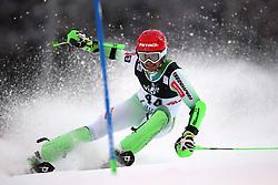 06.01.2015, Crveni Spust, Zagreb, CRO, FIS Weltcup Ski Alpin, Zagreb, Herren, Slalom, 1. Lauf, im Bild Miha Kuerner (SLO) // Miha Kuerner of Slovenia in action during 1st run of men's Slalom of FIS Ski Alpine Worldcup at the Crveni Spust in Zagreb, Croatia on 2015/01/06. EXPA Pictures © 2015, PhotoCredit: EXPA/ Pixsell/ Igor Kralj<br /> <br /> *****ATTENTION - for AUT, SLO, SUI, SWE, ITA, FRA only*****