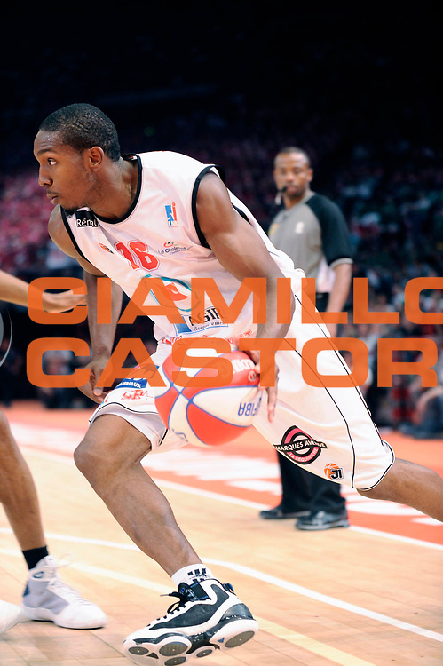 DESCRIZIONE : Championnat de France Basket Ligue Pro A Finale <br /> GIOCATORE : DeMarcus Nelson<br /> SQUADRA : Cholet <br /> EVENTO : Ligue Pro A  2010-2011<br /> GARA : Cholet Nancy<br /> DATA : 26/06/2011<br /> CATEGORIA : Basketbal France Ligue Pro A<br /> SPORT : Basketball<br /> AUTORE : JF Molliere par Agenzia Ciamillo-Castoria <br /> Galleria : France Basket 2010-2011 Reportage<br /> Fotonotizia : Championnat de France Basket Ligue Pro A Hotel Novotel Repas<br /> Predefinita :