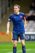 Christophe Berra (#6) of Heart of Midlothian during the Ladbrokes Scottish Premiership match between Motherwell FC and Heart of Midlothian FC at Fir Park, Stadium, Motherwell, Scotland on 17 February 2019.