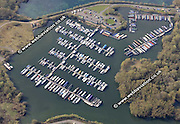 aerial photograph of   Reading Marina  in  Reading Berkshire  England UK