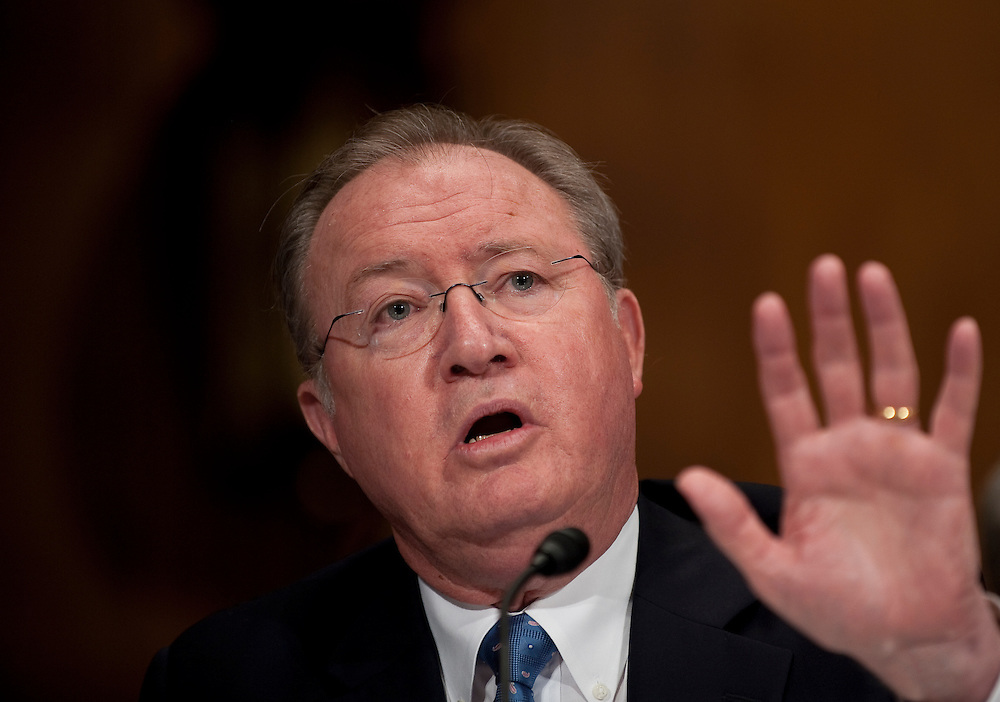 May 27, 2010 - Washington, District of Columbia, U.S., - Glenn Tilton, chairman, president and CEO of United Airlines testifies during a Senate Judiciary Committee Hearing on the  the United and Continental Airlines Merger. .(Credit Image: © Pete Marovich/ZUMA Press)