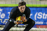 Forest Green Rovers goalkeeper James Montgomery warming up during the EFL Sky Bet League 2 match between Forest Green Rovers and Mansfield Town at the New Lawn, Forest Green, United Kingdom on 29 January 2019.