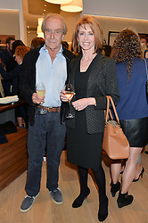 GERALD SCARFE and JANE ASHER at a party to celebrate the re-opening of the Jaeger Chelsea Store in association with the NSPCC at 145 Kings Road, London on 24th September 2014.