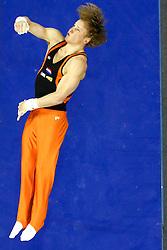 20-04-2014 NED: World Challenge Cup, Ljubljana<br /> Epke Zonderland of Netherlands competes in the Parallel Bars