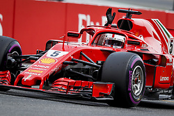 July 21, 2018 - Hockenheim, Germany - #5 Sebastian Vettel (GER, Scuderia Ferrari) takes pole position after qualifying at FIA Formula One World Championship 2018, Grand Prix of Germany. (Credit Image: © Hoch Zwei via ZUMA Wire)