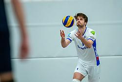 21-12-2019 NED: AVV Keistad - Lycurgus, Amersfoort<br /> 1/4 final National Cup season volleyball men, Lycurgus win 3-0 / Sam Gortzak #1 of Lycurgus