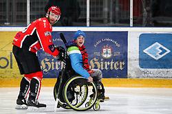 Jernej Slivnik during Ice Hockey match between HDD SIJ Acroni Jesenice and Rittner Buam in 2nd Semifinal of Alpine League 2017/18 on March 24, 2018 in Arena Podmezakla, Jesenice, Slovenia. Photo by Urban Urbanc / Sportida