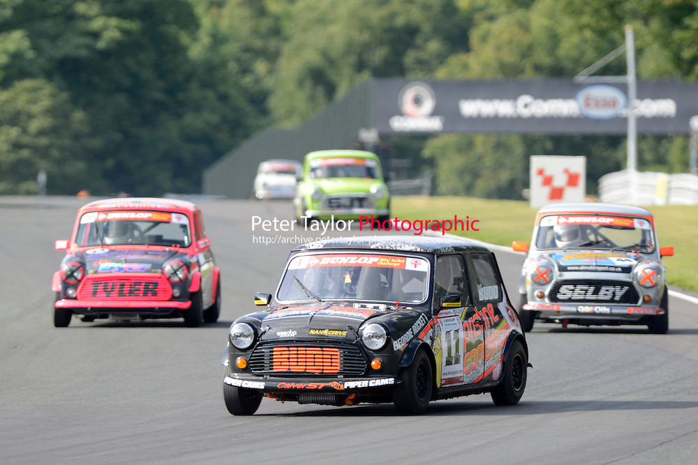#11 Charlie Budd Mini 7 during Mini Se7en - Race 2 as part of the Mini Festival  at Oulton Park, Little Budworth, Cheshire, United Kingdom. August 08 2015. World Copyright Taylor/PSP. Copy of publication required for printed pictures.  Every used picture is fee-liable. http://archive.petertaylor-photographic.co.uk