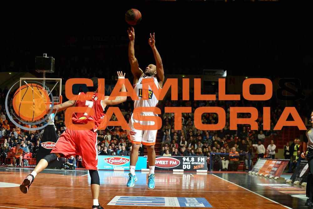 DESCRIZIONE : Championnat de France Pro a Antares Le Mans<br /> GIOCATORE : El-Amin Khalid<br /> SQUADRA : Le Mans<br /> EVENTO : Pro A <br /> GARA : Le Mans Strasbourg<br /> DATA : 26/01/2013<br /> CATEGORIA : Basketball France Homme<br /> SPORT : Basketball<br /> AUTORE : JF Molliere<br /> Galleria : France Basket 2012-2013 Action<br /> Fotonotizia : Championnat de France Basket Pro A<br /> Predefinita :