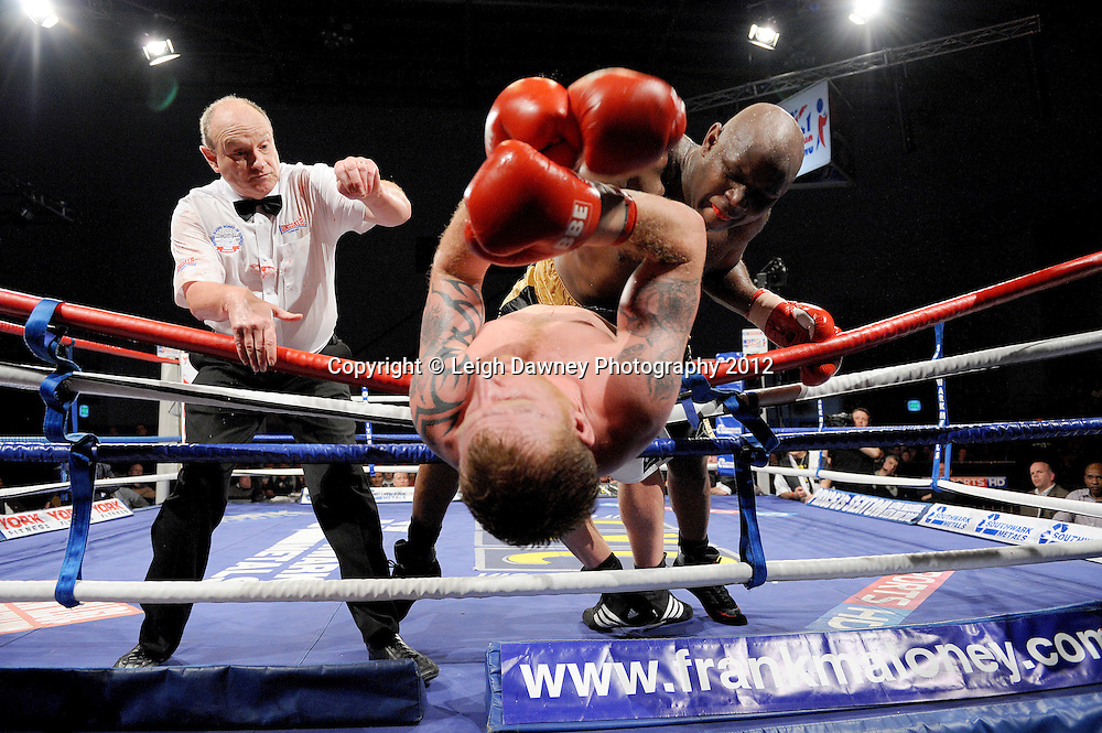 Matt Skelton defeats Tom Dallas in a Heavyweight contest on 3rd March 2012 at the Hillsborough Leisure Centre. Frank Maloney & Dennis Hobson Promotions © Leigh Dawney Photography 2012.