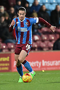 Tommy Rowe of Scunthorpe United  during the Sky Bet League 1 match between Scunthorpe United and Bradford City at Glanford Park, Scunthorpe, England on 21 November 2015. Photo by Ian Lyall.