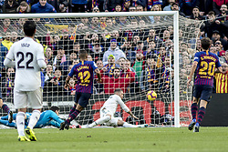 October 28, 2018 - Barcelona, Catalonia, Spain - Rafinha scoring during the spanish league match between FC Barcelona and Real Madrid at Camp Nou Stadium in Barcelona, Catalonia, Spain on October 28, 2018  (Credit Image: © Miquel Llop/NurPhoto via ZUMA Press)
