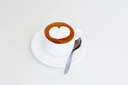A cup of Cappuccino On white background