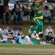 Shabnim Ismail bowling during the South Africa  V New Zealand group A match at Bradman Oval in the ICC Women's World Cup Cricket Tournament, in Bowral, Australia on March 12, 2009. New Zealand won the match by 199 runs. Photo Tim Clayton