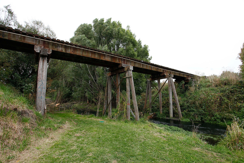 Rail bridge between Styx Milll and Radclliffe Road,near where two children were injured, one by a train, Christchurch, New Zealand, Sunday, March 11, 2012.  Credit:SNPA / Pam Johnson .