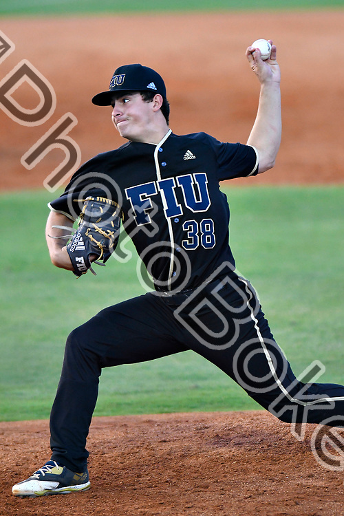 2018 April 13 - FIU's Logan Allen (38). Florida International University fell to Southern Miss, 5-0, at FIU Baseball Stadium, Miami, Florida. (Photo by: Alex J. Hernandez / photobokeh.com) This image is copyright by PhotoBokeh.com and may not be reproduced or retransmitted without express written consent of PhotoBokeh.com. ©2018 PhotoBokeh.com - All Rights Reserved