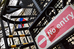 """No Entry"". 23 Russian diplomats and their families prepare to leave the Russian embassy in London following their expulsion in the wake of the Salisbury poisoning case which has former spy Sergei Skripal and his daughter who remain in hospital in critical condition. . London, March 20 2018."