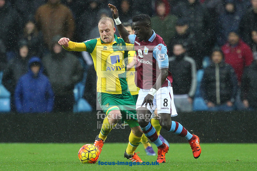 Steven Naismith of Norwich and Idrissa Gana of Aston Villa in action during the Barclays Premier League match at Villa Park, Birmingham<br /> Picture by Paul Chesterton/Focus Images Ltd +44 7904 640267<br /> 06/02/2016
