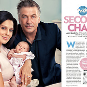 Portrait of Alec and Hilaria Baldwin for People Magazine