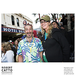 Chris Morley-Hall;Bridget van der Zijpp at the Go Wellington Cuba St Carnival at Cuba St, Wellington, New Zealand.