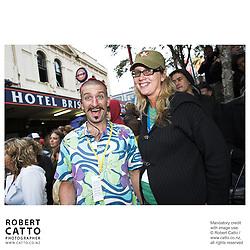 Chris Morley-Hall;Bridget van der Zijpp at the Go Wellington Cuba St Carnival at Cuba St, Wellington, New Zealand.