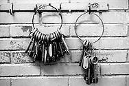 Roma Giugno 2000.Carcere di Rebibbia N.C..Le chiavi delle celle...Rome June 2000.Prison Rebibbia N.C..The keys to the cells.