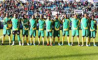 Fotball , 10. oktober 2009 , Privatkamp , Norge - Sør-Afrika<br /> Norway - South-Africa 1-0<br /> <br /> lineup , Sør-Afrika , lagbilde