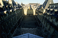 France. Paris. elevated view. The Sorbonne, view from the Sorbonne church