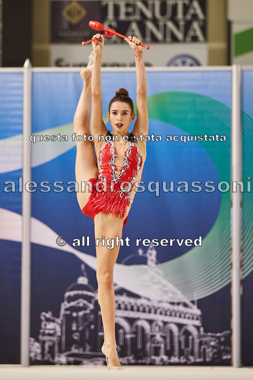Laura Paris from Moderna Legnano team during the Italian Rhythmic Gymnastics Championship in Padova, 25 November 2017.